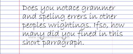 Find Writing Errors